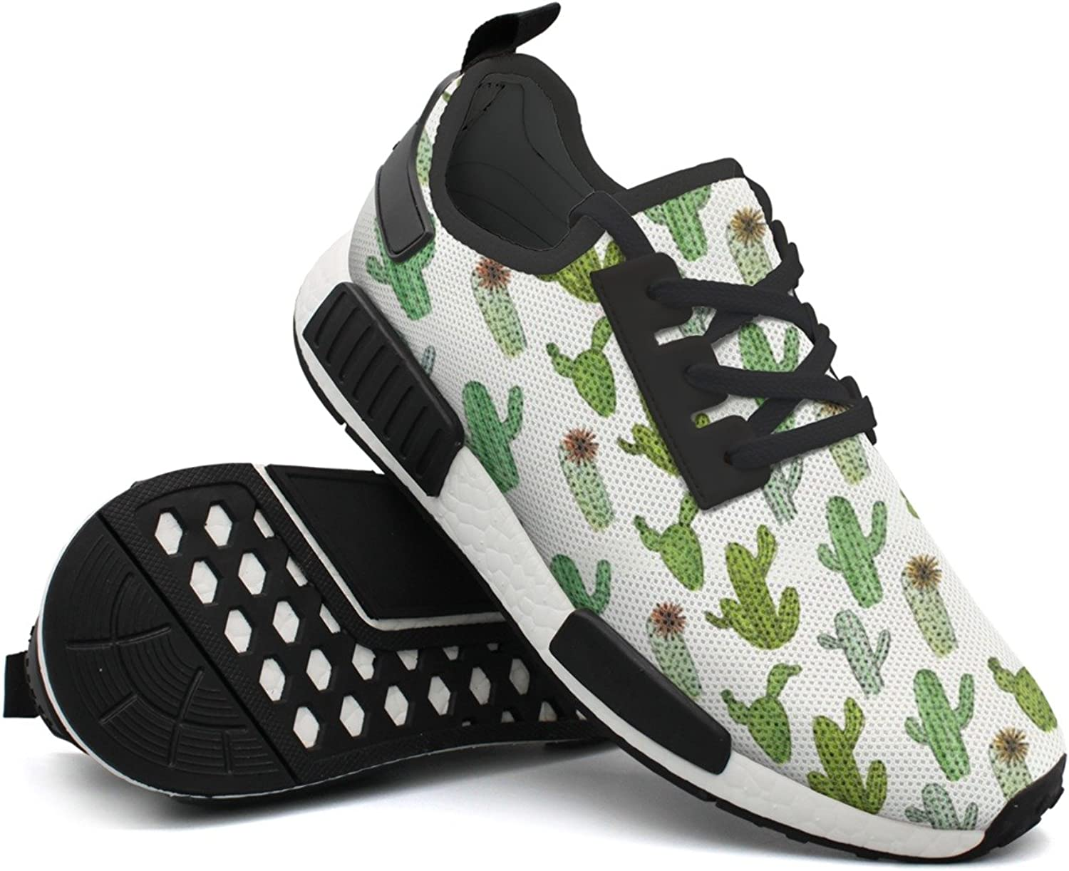 Cactus Ink And Watercolor Print Pattern Young Women Gift Climbing Design Running shoes Cool Man's