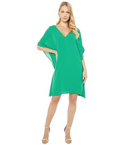 Adrianna Papell Gauzy Crepe Caftan Dress (Harbor Teal) Women