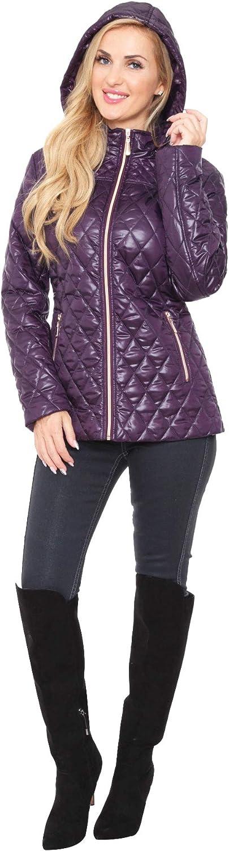 MW Premium Quality Women's Zipper Solid Puffer Coat Jacket Hoodie