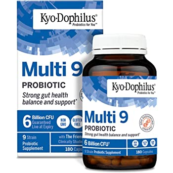 Kyolic Kyo-Dophilus Multi 9 Probiotic, For Strong Gut Health Balance and Support, 180 Count (Packaging May Vary)