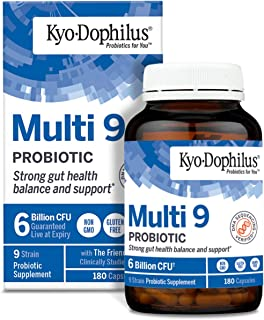 Kyo-Dophilus Multi 9 Probiotic, For Strong Gut Health Balance and Support, 180 Count (Packaging May Vary)