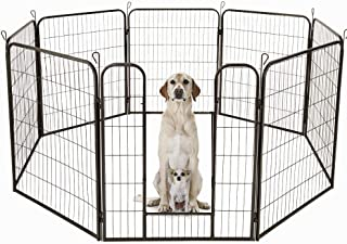 La Casa del Perro del Columpio Amuzocity Puerta De Seguridad De Madera para Perros Extensible
