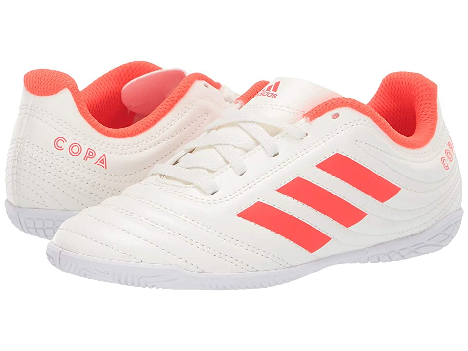 adidas Kids Copa 19.4 IN Soccer (Little Kid/Big Kid) (Off-White/Solar Red/White) Kids Shoes