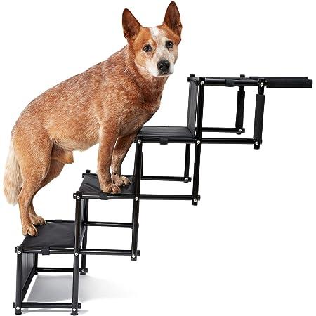 Piupet Universal Hundetreppe Für Große Und Kleine Hunde Bis 80 Kg Belastbar Für Alle Fahrzeuge Nutzbar Klappbare Hunderampe Haustier