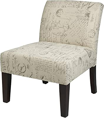 Astounding Amazon Com Ave Six Andrew Upholstered Armless Accent Chair Lamtechconsult Wood Chair Design Ideas Lamtechconsultcom