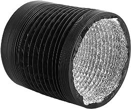 PEIHAN Conductos de Aluminio Flexible, protección de Tres Capas para Trabajo Pesado, conductos Largos de Aluminio Flex Air sin Aislamiento para ventilación, 2 Hebillas fijas Incluidas