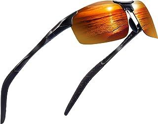 d5789464189 Sports Polarized Sunglasses for Men - Feirdio Mens Sports Glasses Metal  Frame Driving sunglasses 2266
