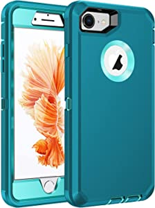 RegSun for iPhone 6s Case,iPhone 6 Case,Built-in Screen Protector, Shockproof 3-Layer Full Body Protection Rugged Heavy Duty High Impact Hard Cover Case for iPhone 6/6s 4.7 inch,Blue