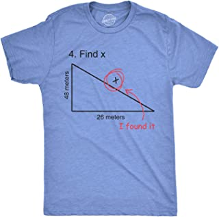 Find X T Shirt Funny Saying Math Teacher Graphic Sarcastic Gift Novelty Dad Joke