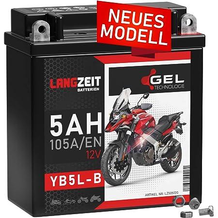 2extreme 12 Volt 5ah Batterie Wartungsfrei Inklusive 7 50 Batteriepfand Kompatibel Für Qingqi Jinan Qingqi Qm50qt 6 Auto
