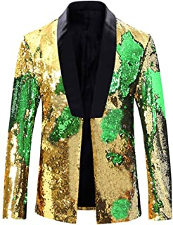 Allthemen Mens Suits Slim Fit Blazer Shiny Shawl Lapel Dress Suit Jacket Party Prom Clubwear Halloween/Cosplay Tuxedo Jack...