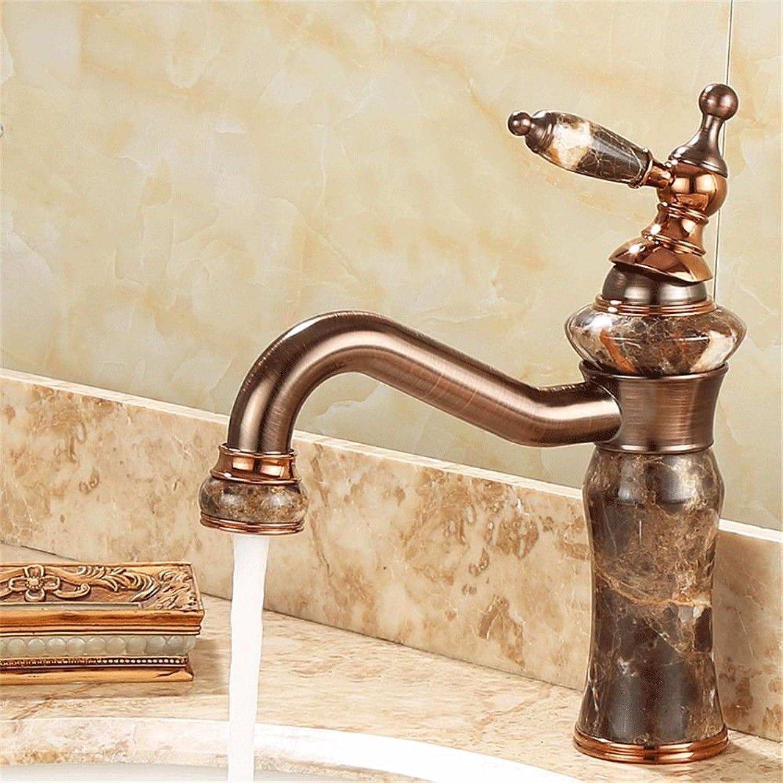 ETERNAL QUALITY Badezimmer Waschbecken Wasserhahn Messing Hahn Waschraum Mischer Mischbatterie Antike Jade Wasserhahn schwarzer Jade Tippen Küchenspüle Armaturen