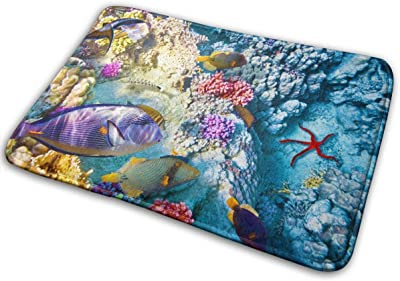 Wonderful and Beautiful Underwater World Door Mat Rug Indoor/Front Door/Shower Bathroom Doormat, Non-Slip Doormats, 23.6 X 15.8 Inch