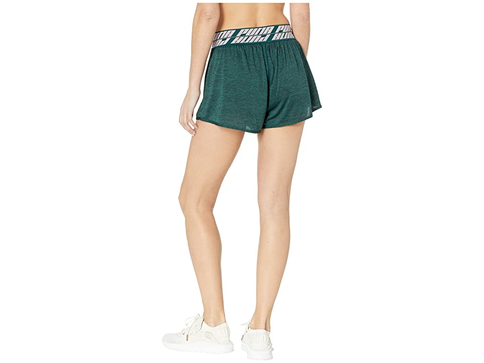 PUMA Own It 3 Shorts (Ponderosa Pine Heather) Women's Clothing, Black