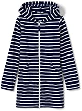 Lands' End Girls Stripe Kangaroo Pocket Swim Cover-Up