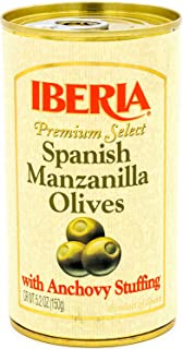 Iberia Spanish Olives Stuffed with Anchovies, 5.25 Oz (Pack of 12)