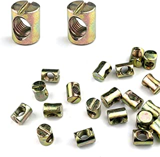 Metric M24-2.0 Slotted Castle Nuts Zinc Plated Steel DIN 935 10 pcs