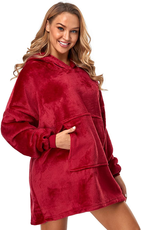 Bkvava Wearable 祝開店大放出セール開催中 Blanket Hoodie Oversized Hooded 定番の人気シリーズPOINT ポイント 入荷 B Sherpa