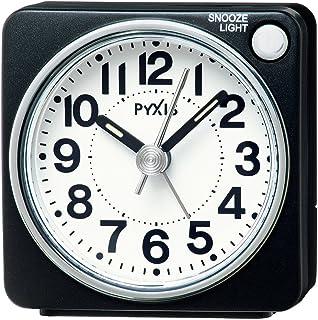 セイコー クロック 目覚まし時計 アナログ PYXIS ピクシス 黒 メタリック NR437K SEIKO
