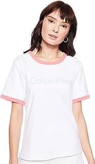 Calvin Klein Jeans Women's S/S CREW NECK T-Shirts, White (White 100), Medium