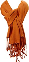 Amtal Large Pashmina Soft Scarf Cashmere Shawl Wrap Stole in 40+ Solid Colors