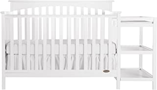 Dream On Me Chloe 5-in-1 Convertible Crib with Changer, White