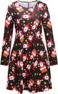 Female Festive Patterns Ugly Christmas Dress Funny A-line Minidress Outfits