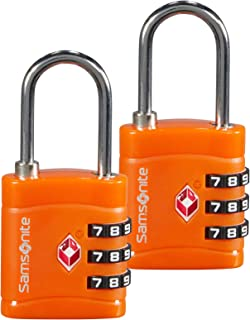 Samsonite Global Travel Accessories Three Dial TSA Combilock 2X, 7 cm, Orange
