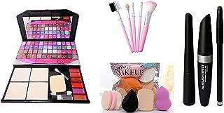 Fashion Makeup Kit for Girls + Hello Kitty Makeup Brushes 5 Piece + PRO TYA Makeup Sponges 6 Piece + Eye Liner & Kajal & M...