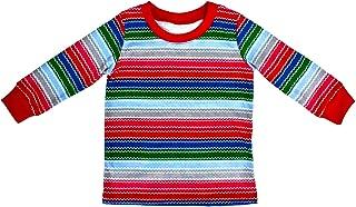 Toddler Rainbow Striped Horror Good Buddy Halloween Costume Long Sleeve Shirt