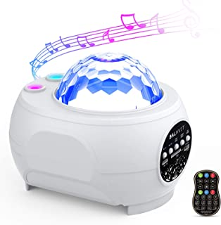 Galaxy Star Projector with Bluetooth Speaker, Balhvit 30 Lighting Modes Night Light for Kids Music Starry Projector, LED Nebula Cloud Ocean Wave w/Remote Control for Bedroom/Home Theatre/Party Decor