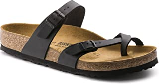 Birkenstock Mayari (Women's) Cork-Footbed Flat Sandals in Matte Black 38 M EU / 7-7.5 B(M) US Women
