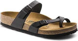 Mayari (Women's) Cork-Footbed Flat Sandals in Synthetic Matte Black Birko-Flor 38 M EU / 7-7.5 B(M) US Women
