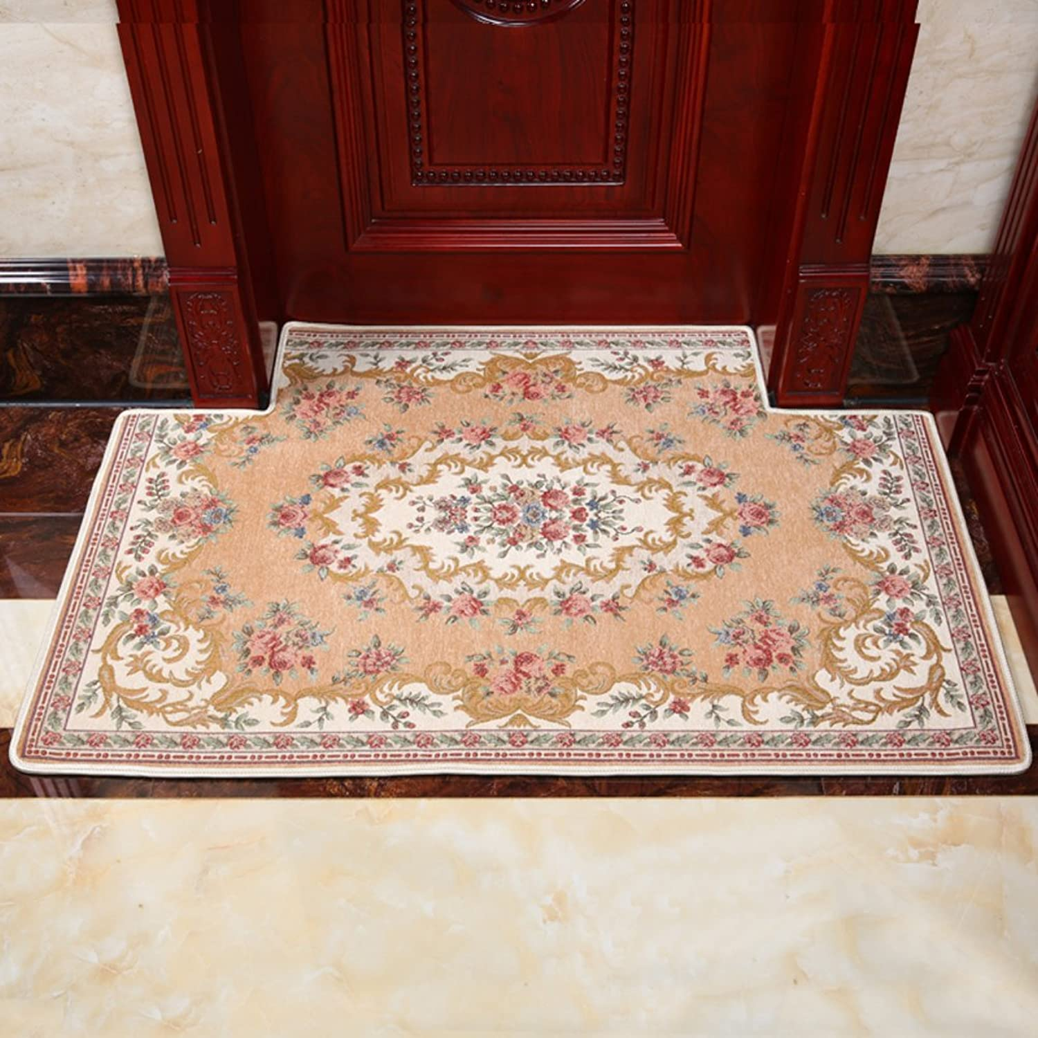 Doormat European-Style Floor mats Doormat Foot pad Door,Entrance,[Hall],Living Room,Kitchen,Bedroom,The Door,Household use,Non-Slipping mats-L 90x140cm(35x55inch)