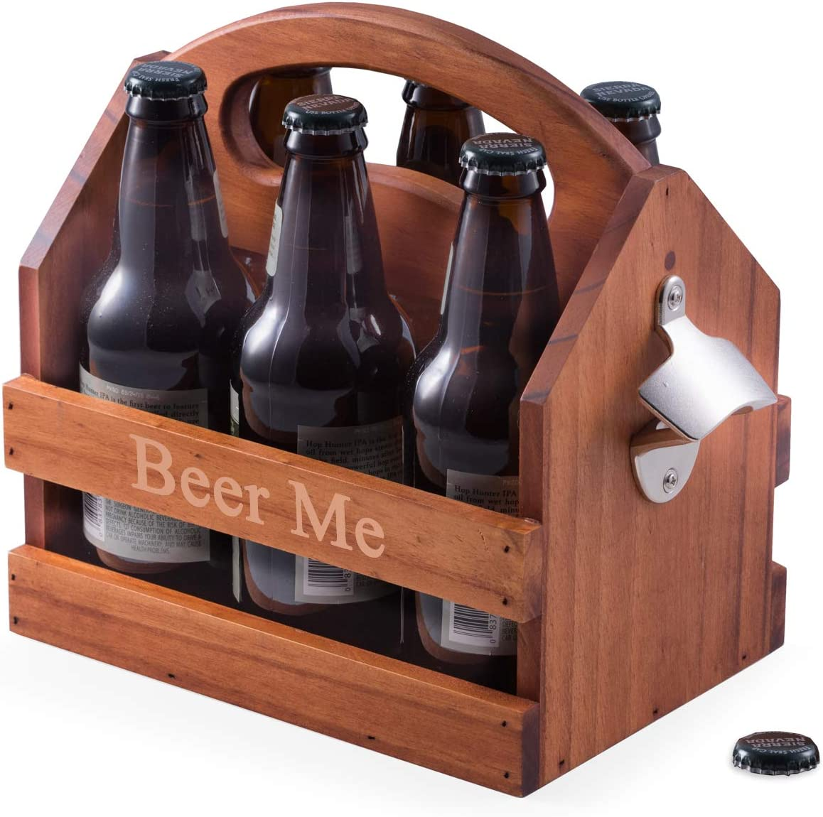 Custom Personalized Philadelphia Mall Solid Wood Craft Beer Caddy attached bo Ranking TOP12 with