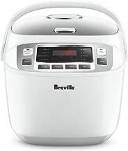 Breville LRC480WHT The Smart Rice Box Cooker, White