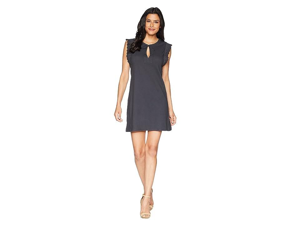 Lilla P Tie Front Dress (Carbon) Women