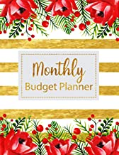 Monthly Budget Planner: Floral Vintage Stripes Weekly Expense Tracker Bill Organizer Notebook Business Money Personal Fina...