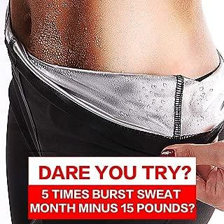 SHENGMI Neoprene Sauna Pants Women - Neoprene Weight Loss Thermo Shapers, Hot Sweat Body Shaper Pants, Fat Burner Workout Capris