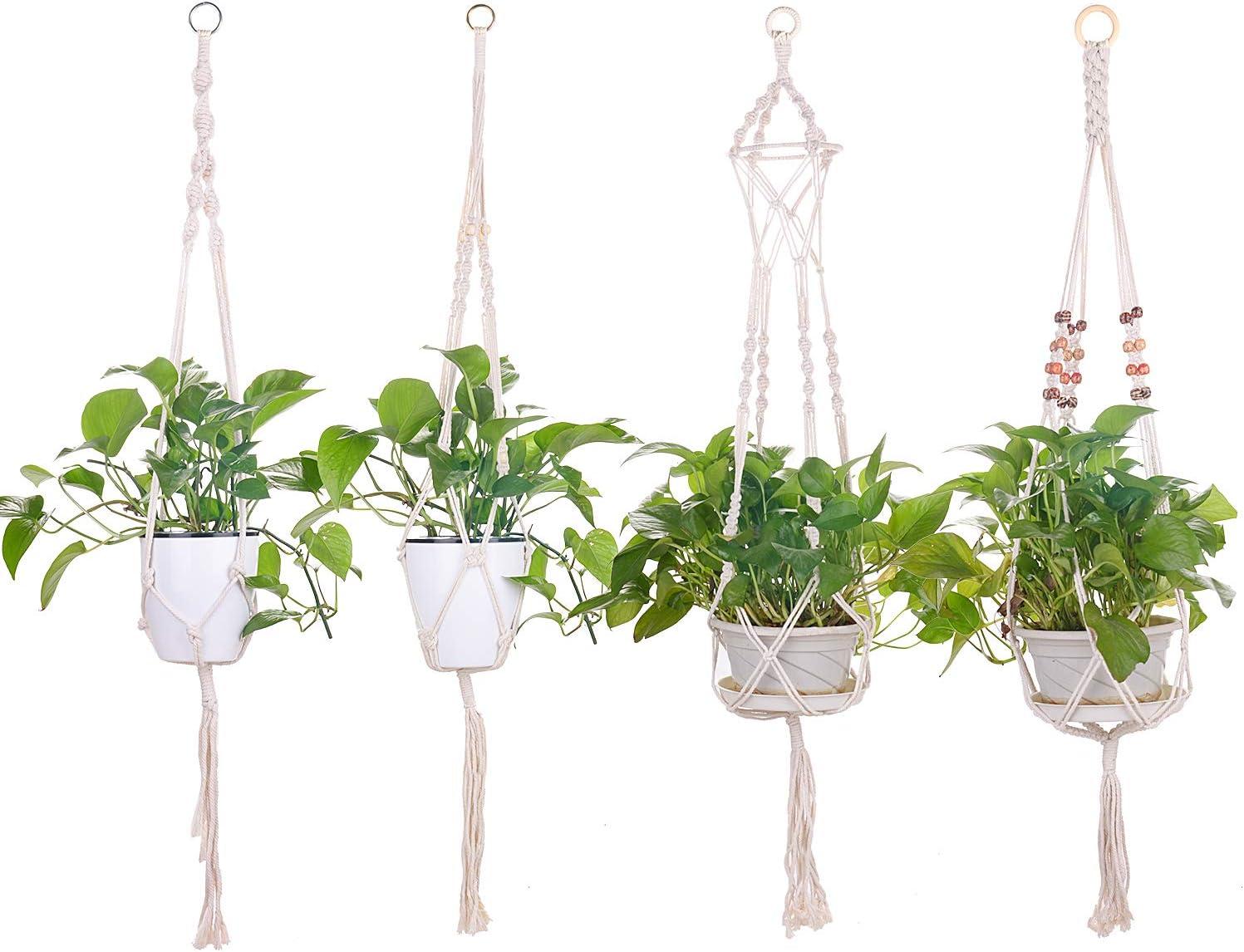 Mixhome New popularity Rope Luxury goods Hanging Planter Set of Macrame Hanger 4pcs C Plant