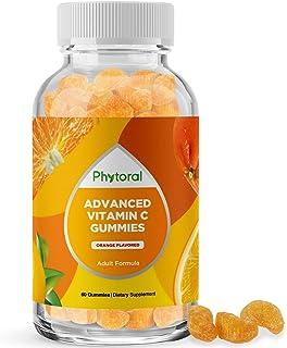 Natural Vitamin C Gummies for Adults - High Potency Vitamin C Immune Support Gummies - Ascorbic Acid Chewable Vitamin C Gu...