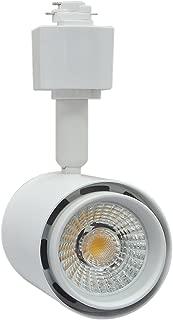Infinity Green Lighting IG-TR017 10W 3-Wire Round LED H Type Track Head Lighting (White, 5000K)