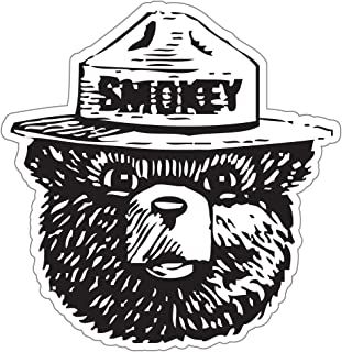 StickyChimp Smokey the Bear Firefighting WILDFIRE sticker 4