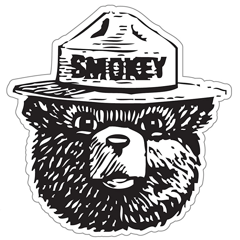 StickyChimp Smokey the Bear Firefighting WILDFIRE sticker 4