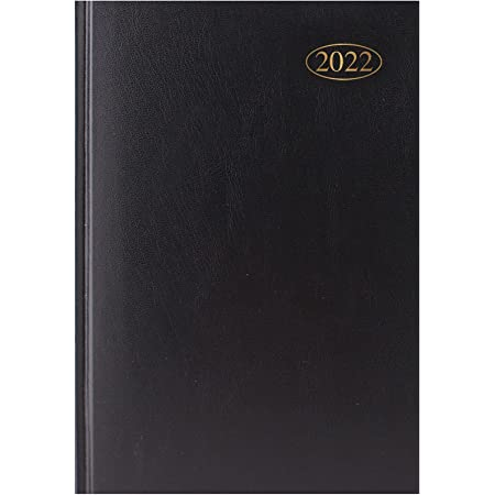 1 Above_2022 A5 Week to View Diary | WTV A5 Planner | Hardback Cover | Casebound Black (Black)