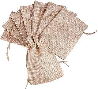 Freessom Lot de 10 Sachets Pochettes Lin Petit Sac Cadeau Bonbons D/écoration Mariage Table Jute Champ/être Chic Boheme Vintage Fourniture Blanc