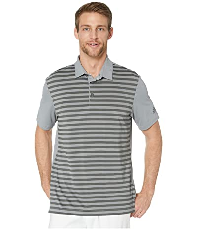 adidas Golf Ultimate365 Wide Stripe Polo Shirt (Grey Three/Grey Six) Men