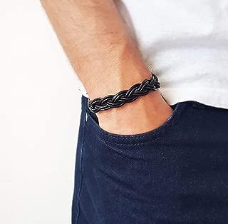 Men's Celtic bracelet - Men's braided bracelet Men's leather bracelet