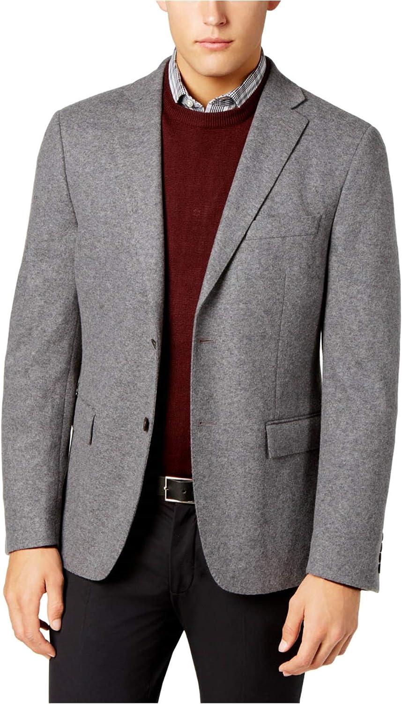 Ryan Seacrest Mens Slim-Fit Two Button Blazer Jacket, Grey, 40 Long