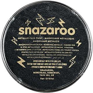 Snazaroo Metallic Face Paint, 18ml, Electric Black